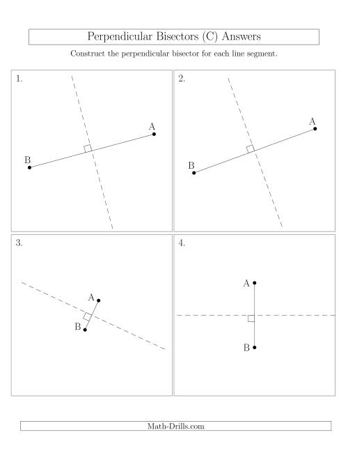 The Perpendicular Bisectors of a Line Segment (C) Math Worksheet Page 2