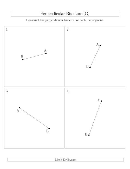 The Perpendicular Bisectors of a Line Segment (G) Math Worksheet