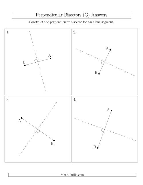 The Perpendicular Bisectors of a Line Segment (G) Math Worksheet Page 2