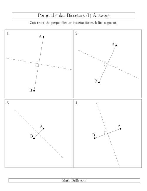 The Perpendicular Bisectors of a Line Segment (I) Math Worksheet Page 2