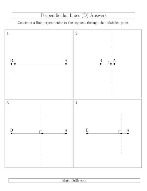 The Construct Perpendicular Lines Through Points on a Line Segment (D) Math Worksheet Page 2