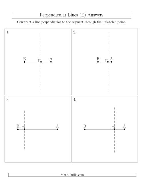 The Construct Perpendicular Lines Through Points on a Line Segment (E) Math Worksheet Page 2