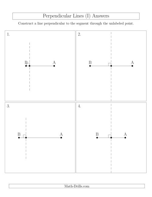 The Construct Perpendicular Lines Through Points on a Line Segment (I) Math Worksheet Page 2