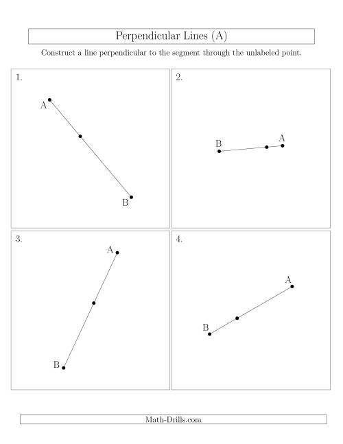 Perpendicular Lines Through Points On A Line Segment