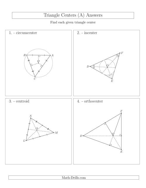 The Contructing Centers for Acute Triangles (A) Math Worksheet Page 2