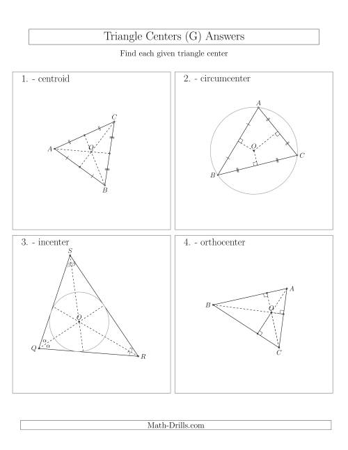 The Contructing Centers for Acute Triangles (G) Math Worksheet Page 2