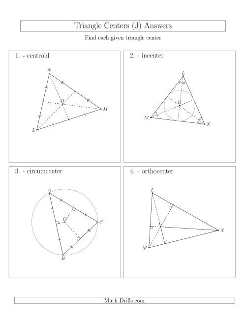 The Contructing Centers for Acute Triangles (J) Math Worksheet Page 2