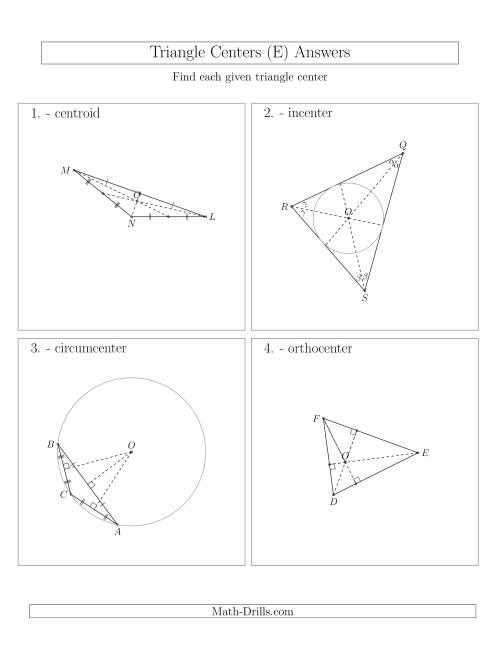 The Contructing Centers for Acute and Obtuse Triangles (E) Math Worksheet Page 2