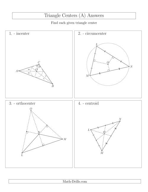 The Contructing Centers for Acute and Obtuse Triangles (All) Math Worksheet Page 2