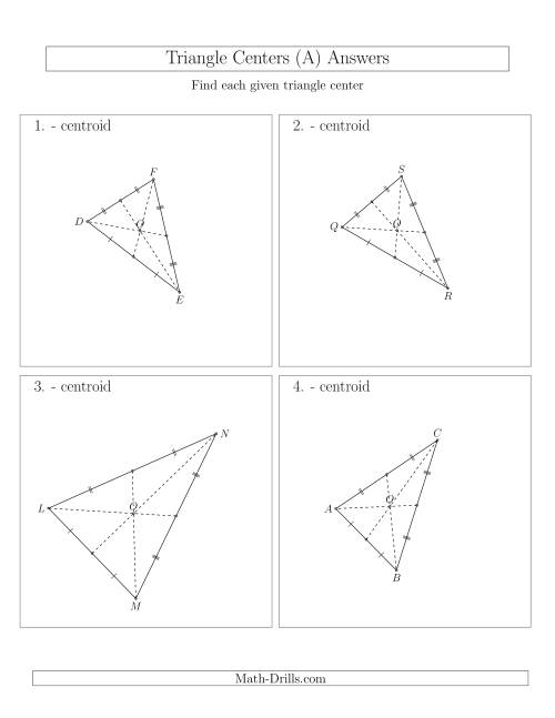 The Contructing Centroids for Acute Triangles (A) Math Worksheet Page 2