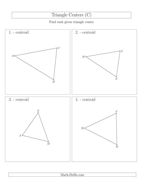 The Contructing Centroids for Acute Triangles (C) Math Worksheet