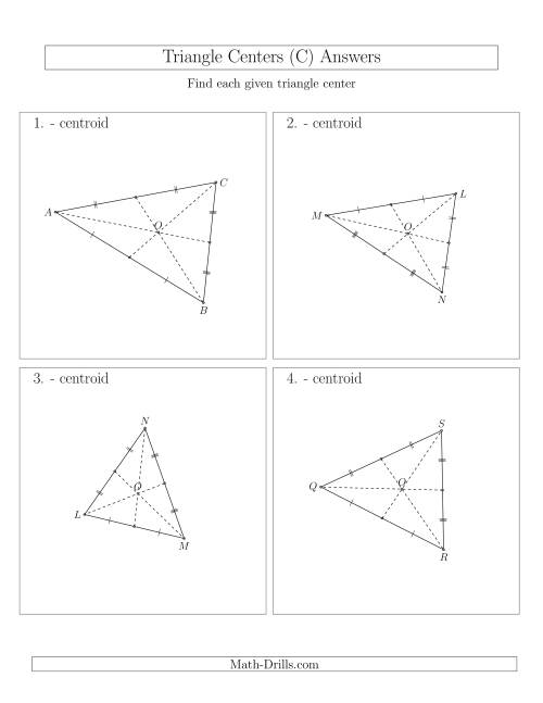 The Contructing Centroids for Acute Triangles (C) Math Worksheet Page 2