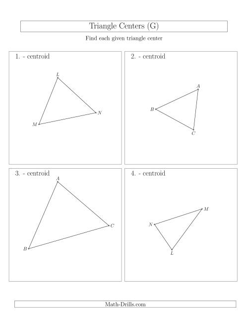 The Contructing Centroids for Acute Triangles (G) Math Worksheet