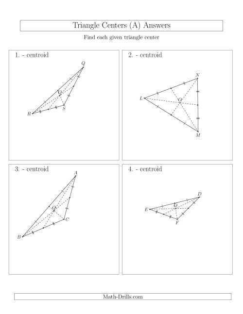 The Contructing Centroids for Acute and Obtuse Triangles (A) Math Worksheet Page 2
