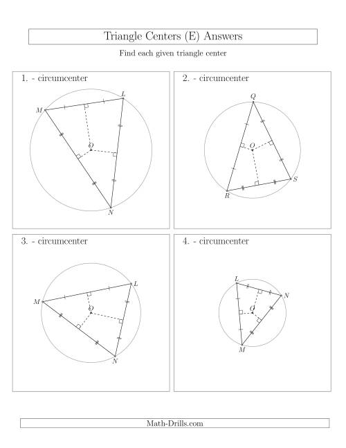 The Contructing Circumcenters for Acute Triangles (E) Math Worksheet Page 2