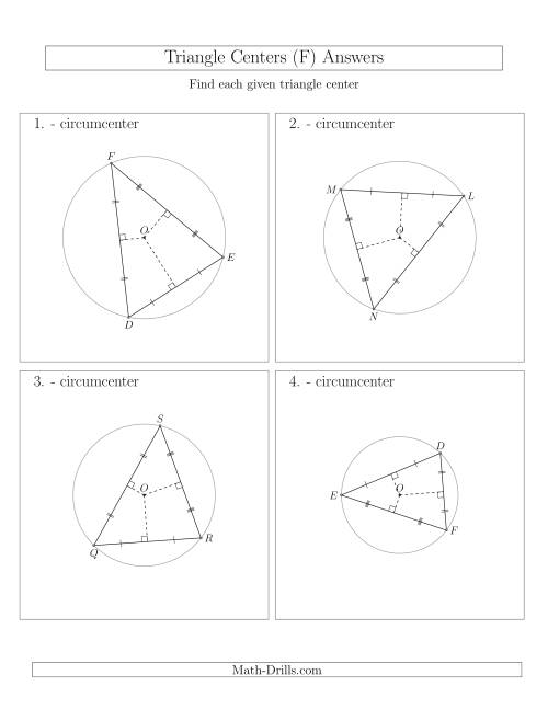 The Contructing Circumcenters for Acute Triangles (F) Math Worksheet Page 2