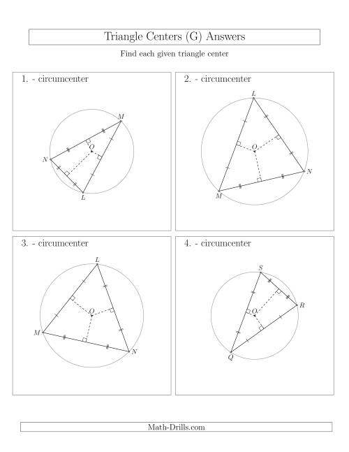 The Contructing Circumcenters for Acute Triangles (G) Math Worksheet Page 2