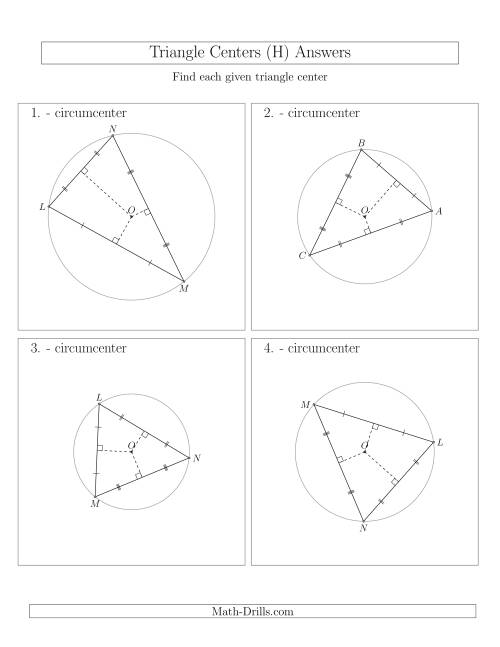 The Contructing Circumcenters for Acute Triangles (H) Math Worksheet Page 2