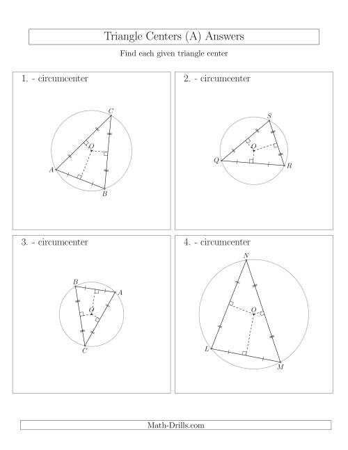 The Contructing Circumcenters for Acute Triangles (All) Math Worksheet Page 2