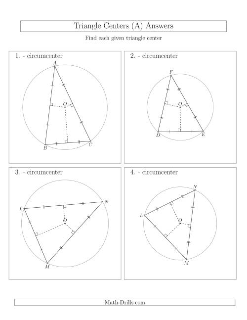 The Contructing Circumcenters for Acute and Obtuse Triangles (A) Math Worksheet Page 2