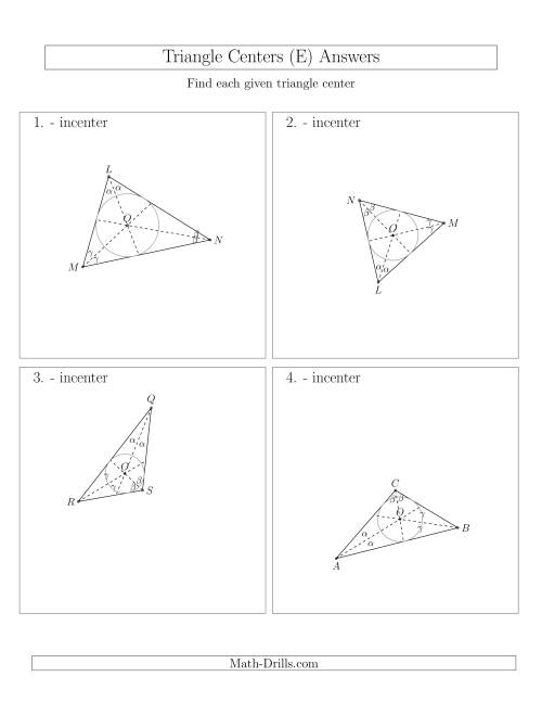 The Contructing Incenters for Acute and Obtuse Triangles (E) Math Worksheet Page 2