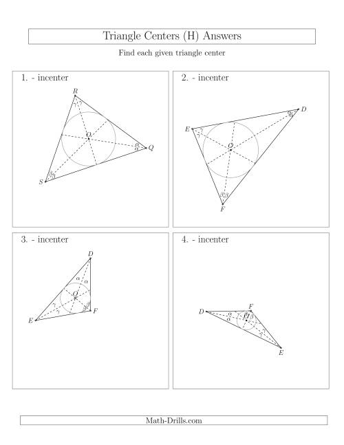 The Contructing Incenters for Acute and Obtuse Triangles (H) Math Worksheet Page 2