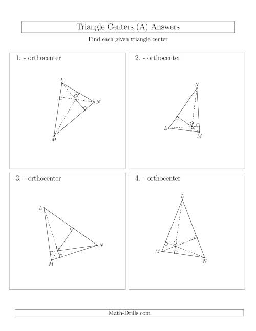 The Contructing Orthocenters for Acute Triangles (A) Math Worksheet Page 2
