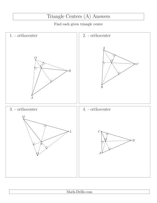The Contructing Orthocenters for Acute and Obtuse Triangles (A) Math Worksheet Page 2