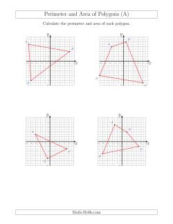 Perimeter and Area of Polygons on Coordinate Planes