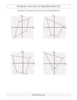 Perimeter and Area of Quadrilaterals on Coordinate Planes