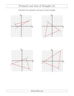 Perimeter and Area of Triangles on Coordinate Planes