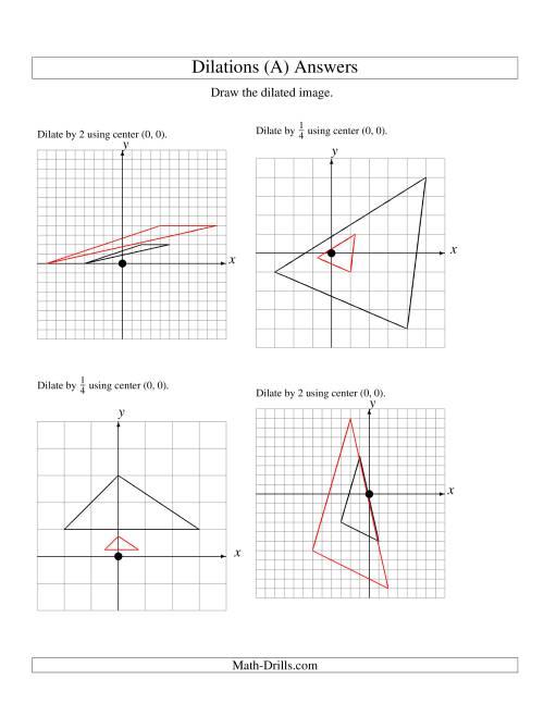 Dilation Math Worksheets - Checks Worksheet