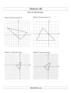 dilations using center 0 0 b geometry worksheet. Black Bedroom Furniture Sets. Home Design Ideas