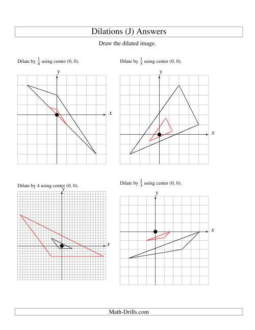 Dilations Using Center (0, 0) (J)