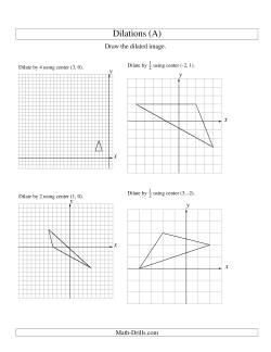 Dilations Using Various Centers (A)