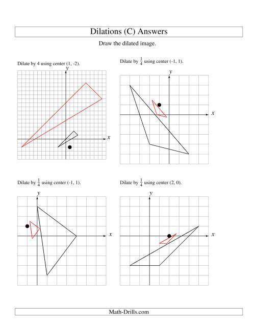 Dilations Using Various Centers C