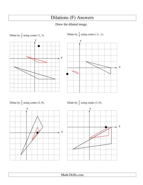 The Dilations Using Various Centers (F) Math Worksheet Page 2