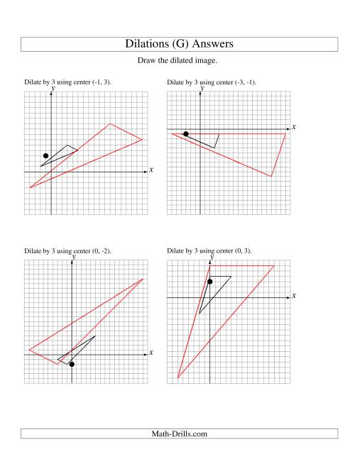 Dilations Using Various Centers (G)