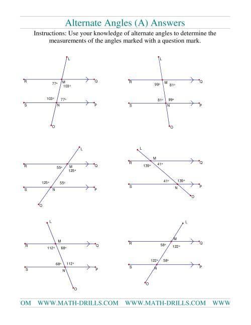 Alternate Angles A