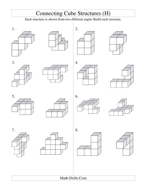 Cubes worksheet. The full-size printout is available only to site ...