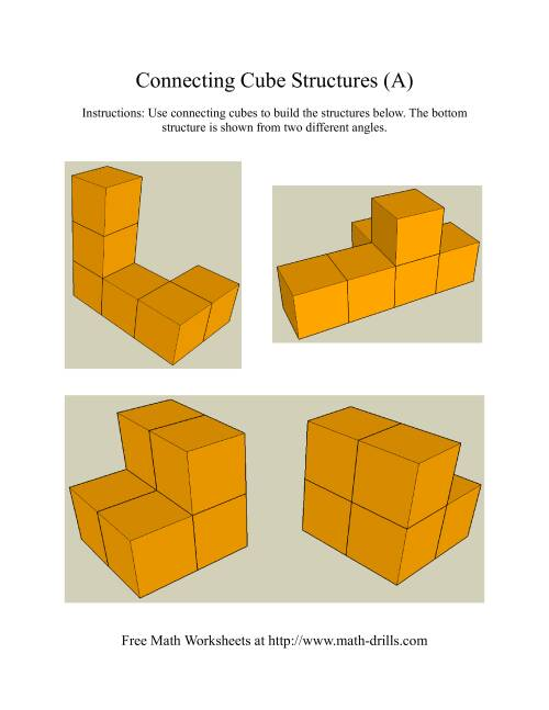 The Building Connecting Cube Structures (Old) Math Worksheet