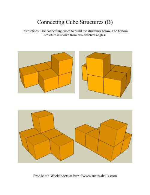 The Building Connecting Cube Structures (Old) Math Worksheet Page 2