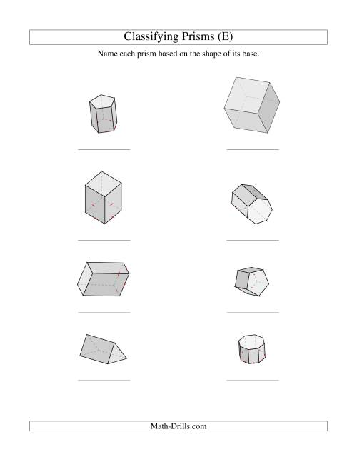 Classifying Prisms (E)