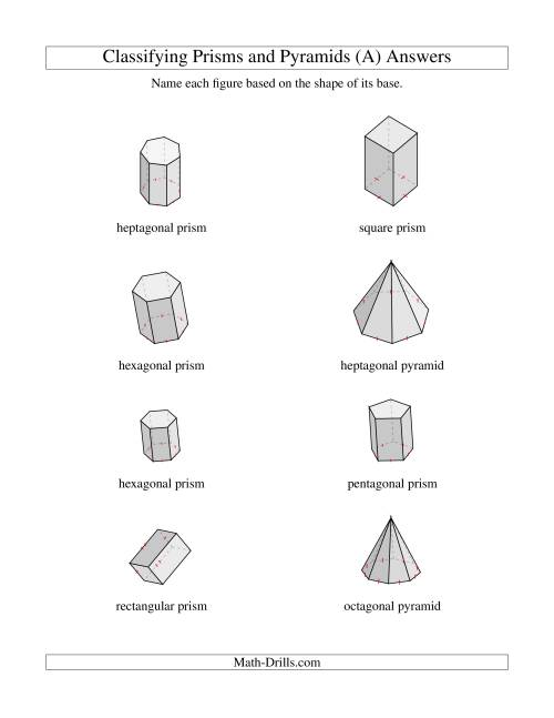 prisms and pyramids worksheets kidz activities. Black Bedroom Furniture Sets. Home Design Ideas