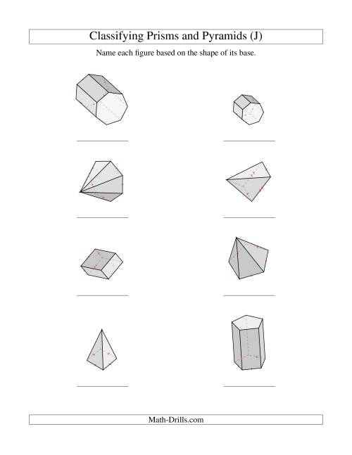 Classifying Prisms and Pyramids (J)