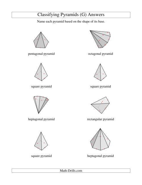 The Classifying Pyramids (G) Math Worksheet Page 2