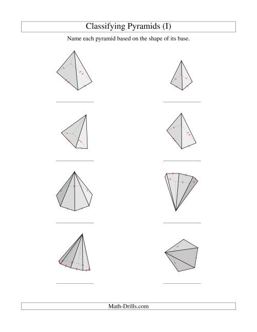 The Classifying Pyramids (I) Math Worksheet