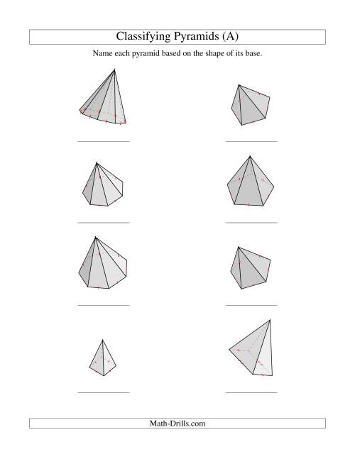 The Classifying Pyramids (All) Math Worksheet