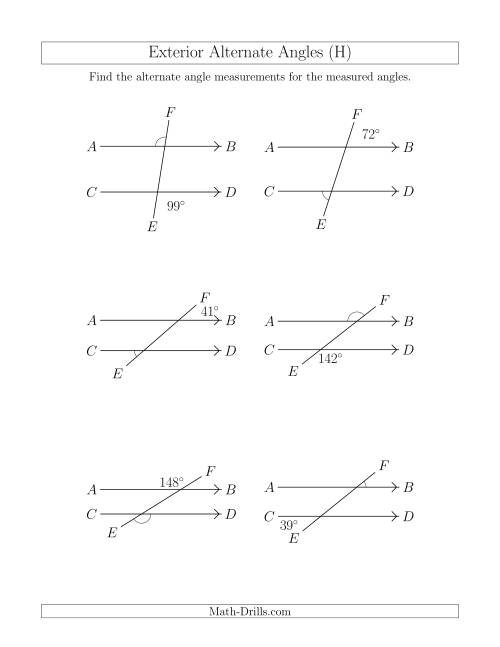 Corresponding Angles Worksheet For All Angles Worksheets