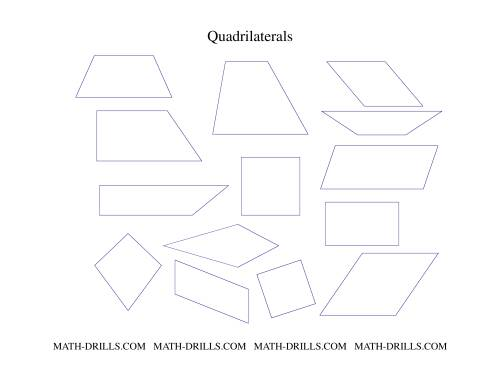 Printables Quadrilaterals Worksheet quadrilaterals set geometry worksheet the worksheet